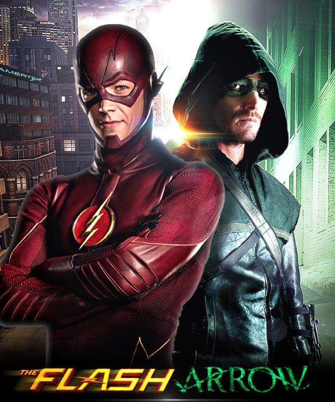 the_flash_and_arrow_tv_poster_by_timetravel6000v2-d84qbi1