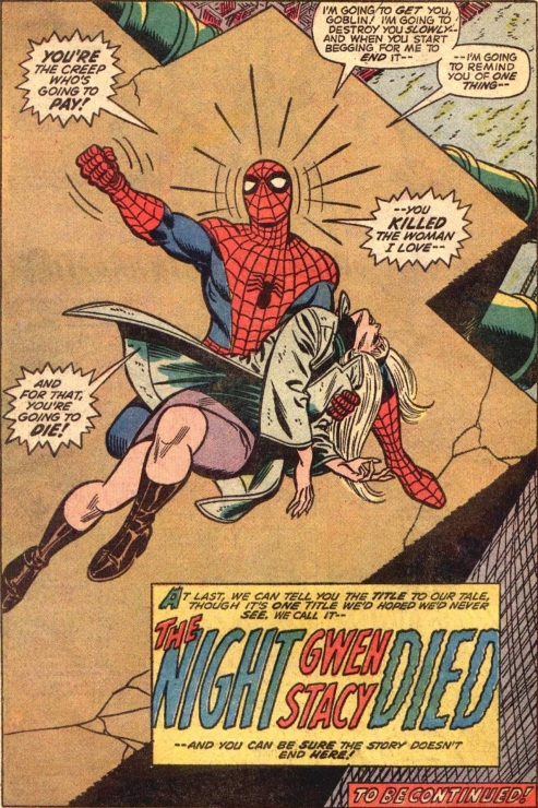 Actually, Spidey, basic physics and biology tells us your web line snapped her neck, so...