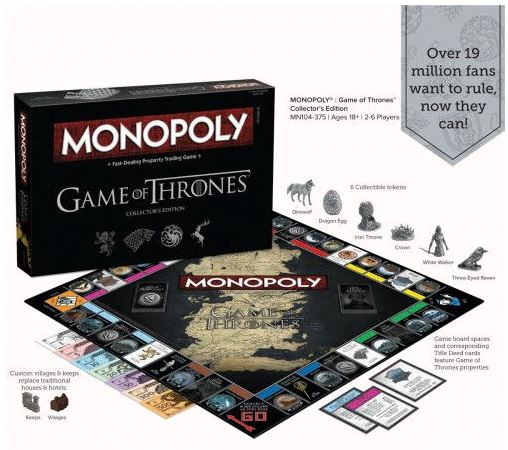 In the Game of Thrones edition of Monopoly you either win...or you don't.