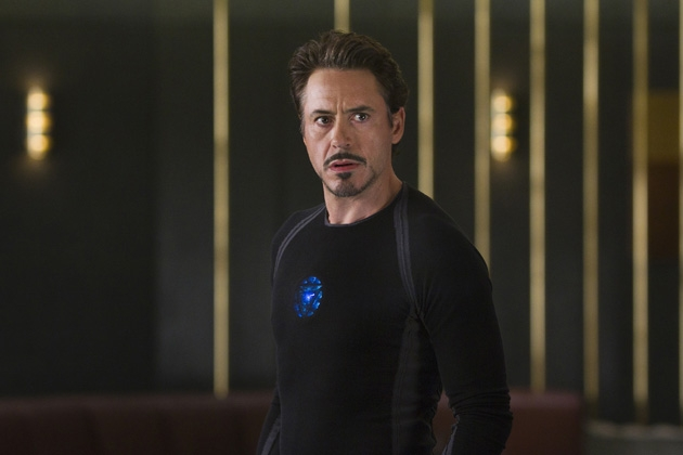 Not explained: when Tony installed the mood lighting mod on his personal arc reactor.