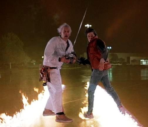 """Great Scott, Marty!  Your shoes are on fire!"""