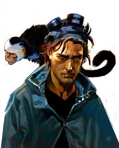 He also has a monkey and is the last man left alive on Earth. But that doesn't matter. Because Madame Xanadu.