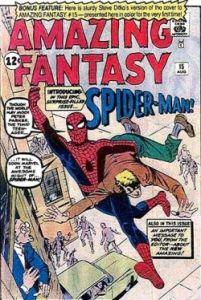 Variant Steve Ditko Amazing Fantasy 15 cover.