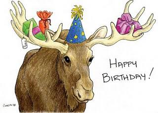 Birthday moose demands good wishes!