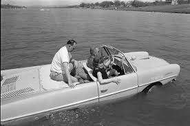 When he wasn't showing off his junk to strangers, he liked to brag about his watercar.