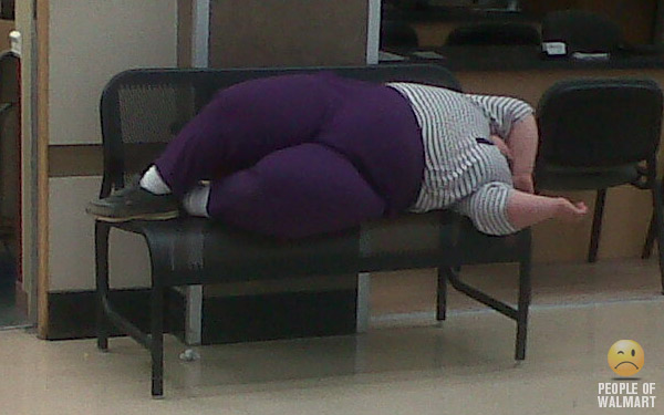 Because Walmart has all the stretchy purple pants.