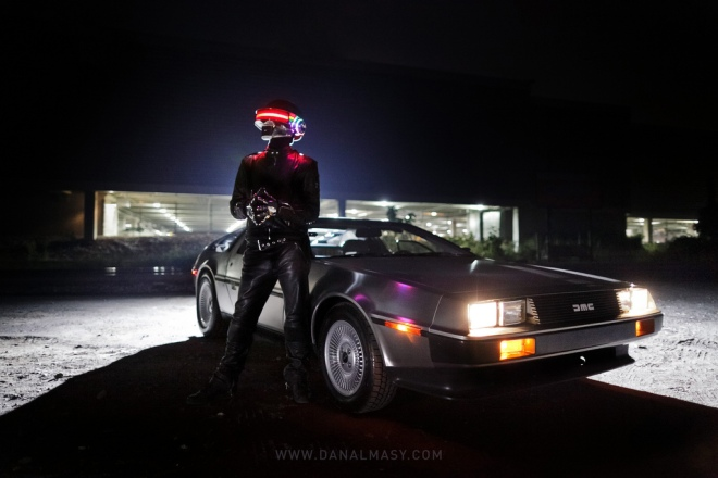 Daft Punk DeLorean Shoot