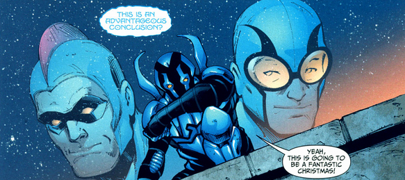 Yeah, all these guys were the Blue Beetle.