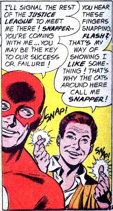 Pictured: someone's awful idea of cool standing with the Flash.