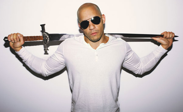 Vin Diesel drives fast cars and carries big swords.  He is not compensating for anything.