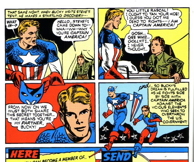 Apparently, Cap didn't think anyone would just pop into his tent while he was changing.