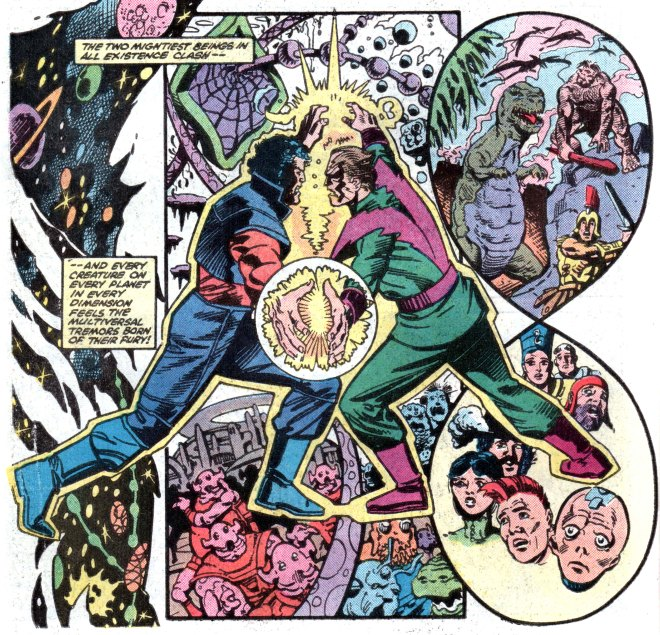 I think this is him fighting the Beyonder.  If it isn't, oh well.  I've never read Secret Wars II and no one seems to think that's a problem.