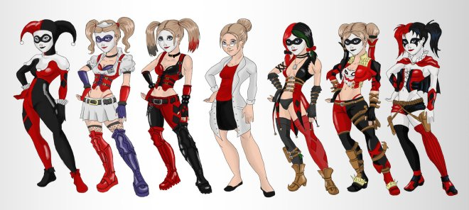 harley_quinn_evoultion_by_ladydeadquinn-d7cmkh4