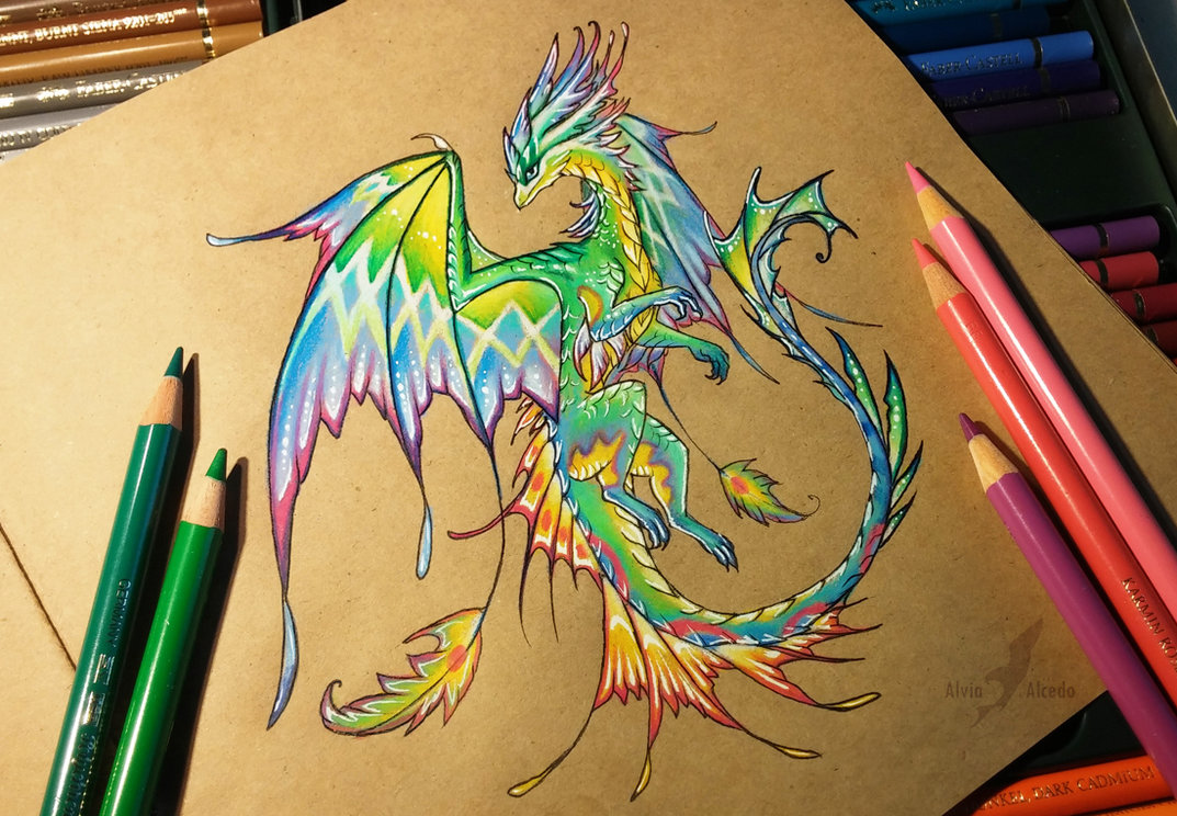 how to draw a beautiful dragon