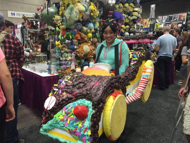 vanellope-von-schweetz-from-wreck-it-ralph-races-around-the-showroom-floor-in-her-candy-coated-cart-it-took-a-week-to-make