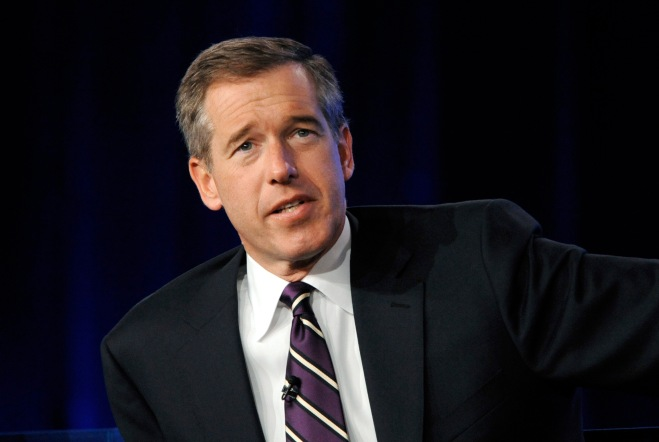 "Brian Williams from ""NBC Nightly News"" answers a question during the panel for NBC News at the NBC Universal sessions of the Television Critics Association winter press tour in Pasadena, California January 10, 2010. REUTERS/Phil McCarten (UNITED STATES - Tags: ENTERTAINMENT) - RTR28QDN"