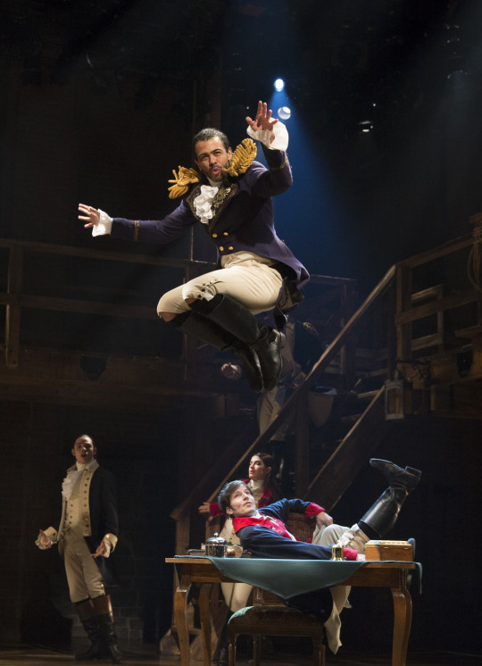 Oh, and Daveed Diggs utters those fastest lyrics while jumping a billion feet into the air.