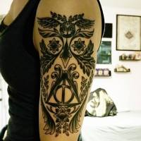 Cleverly Intricate Harry Potter Owl Tattoo Is More Than Meets The Eye